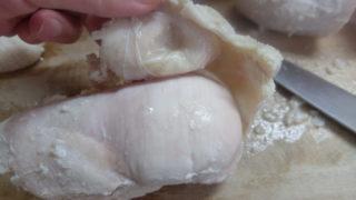 鶏ハム皮付き成功